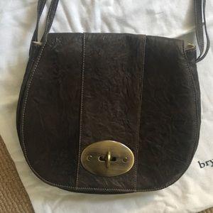 Bryan Nicole Brown leather saddle bag